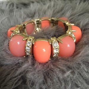 LOFT stretch coral chunky statement bracelet